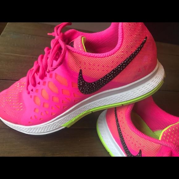 "Custom ""Bling"" Swoosh Nike Pegasus 31 Womens Shoes.  M 5aca94333b1608358558b4bd 241d8c297"